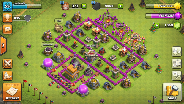 what is a good base village for the clash of clans town hall level