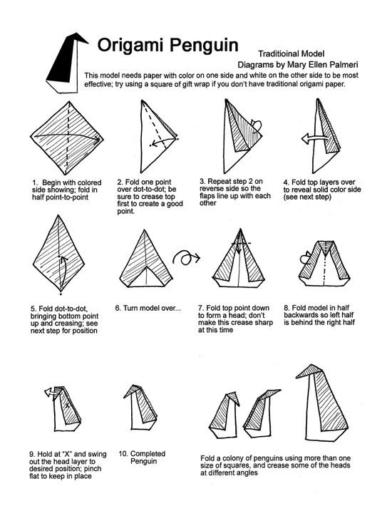 how to make an origami penguin quora