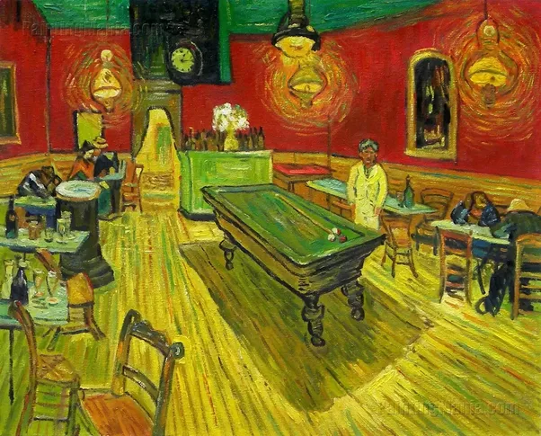 Lets Do Another Color Analysis Of The Painting Below Night Cafe