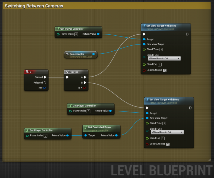 How to capture camera view of non-player actor in unreal