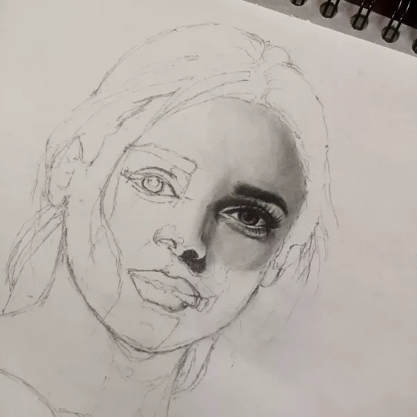 how to start sketching a human face quora