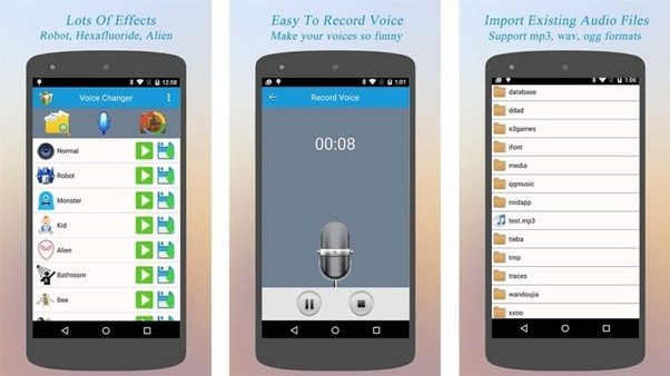 Is there any app or software by which we can change our voice to