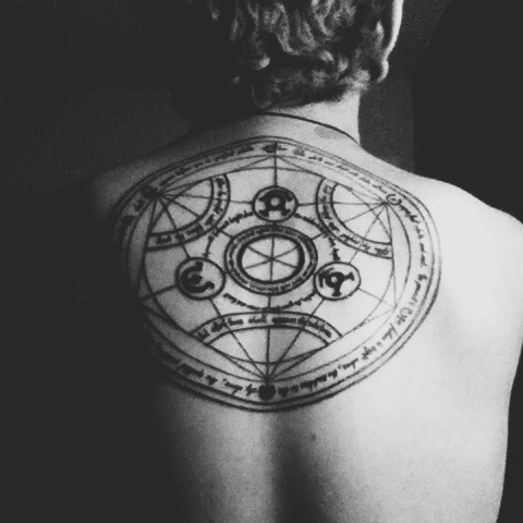 What Is The Meaning Of A Transmutation Circle Tattoo Quora