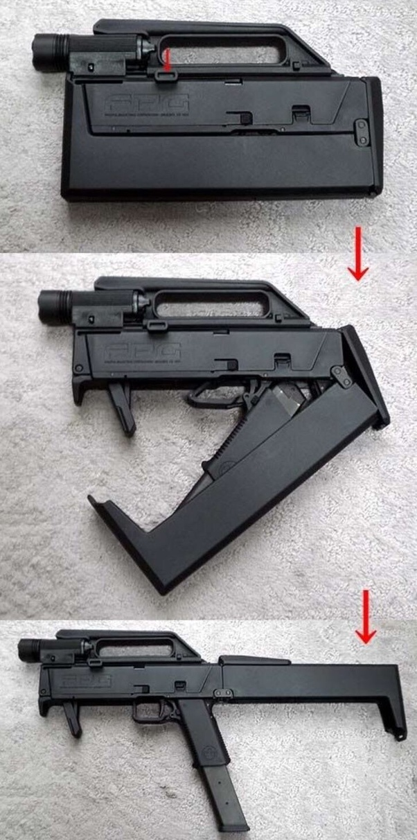 Where can I find a folding airsoft submachine gun, ie  one that