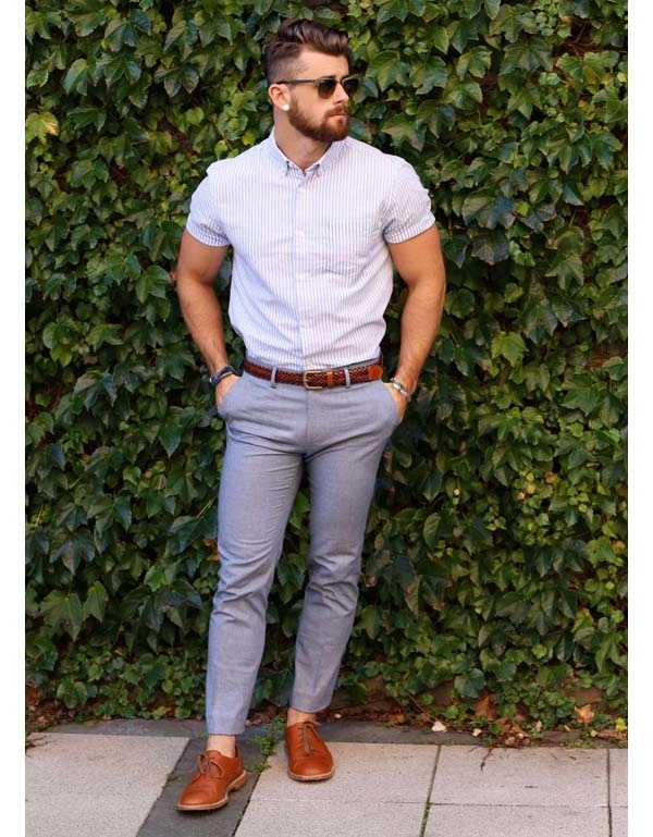 d2017df3b3c Can you tuck in a short sleeve shirt with dress pants  - Quora