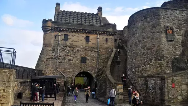 Above Argyle Tower at Edinburgh Castle & Why would you build a portcullis if you could build a gate? Are ...