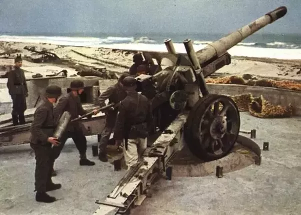 Image result for german artillery gun on the atlantic wall