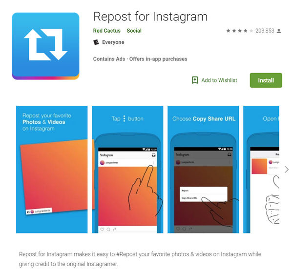 How to repost an Instagram picture someone has already