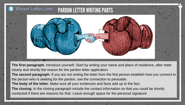 what is a character reference letter for pardon