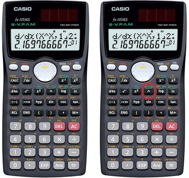 Is there an exponent button on a calculator? Where is it ...