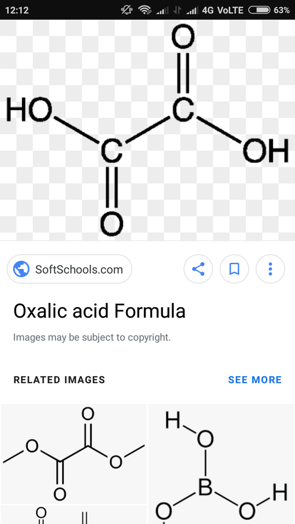 oxalic acid is a saturated but why give it unsaturation tests quora