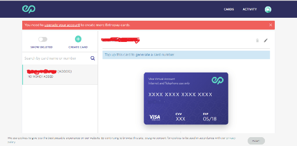 Which is the best website for creating a virtual credit card