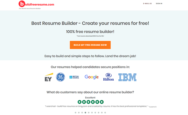 What Is The Best Free Online Resume Builder