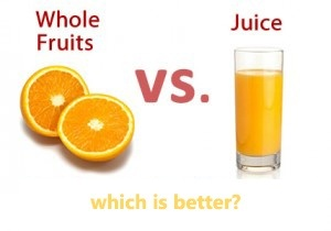 what is the difference between fresh fruits and processed juices