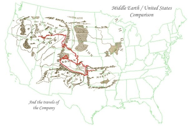 How big is middle earth compared to a real world continent quora the eastern part of me is not really explored but the area covered in the maps are the rough size of 23 of usa or a bit larger than europe publicscrutiny Choice Image