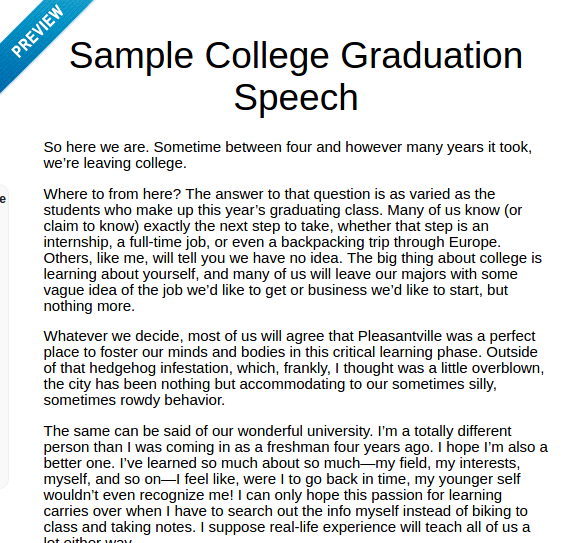 How to write a good graduation speech quora for Valedictorian speech template