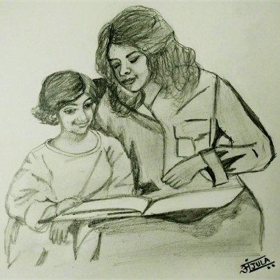 Image result for माँ तो सिर्फ माँ ही होती है sketch