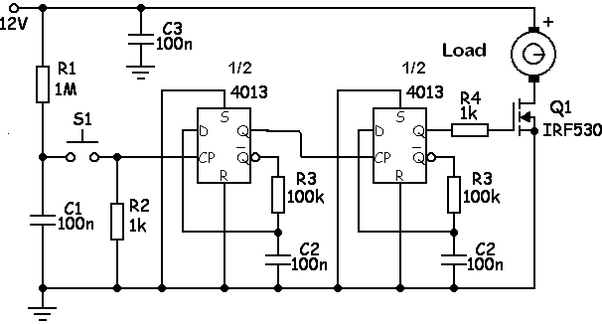 How to make a circuit for a switch that in order to turn on
