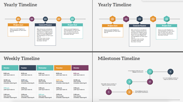 Where Can I Get Different Timeline Templates For PowerPoint Quora - Powerpoint timeline templates