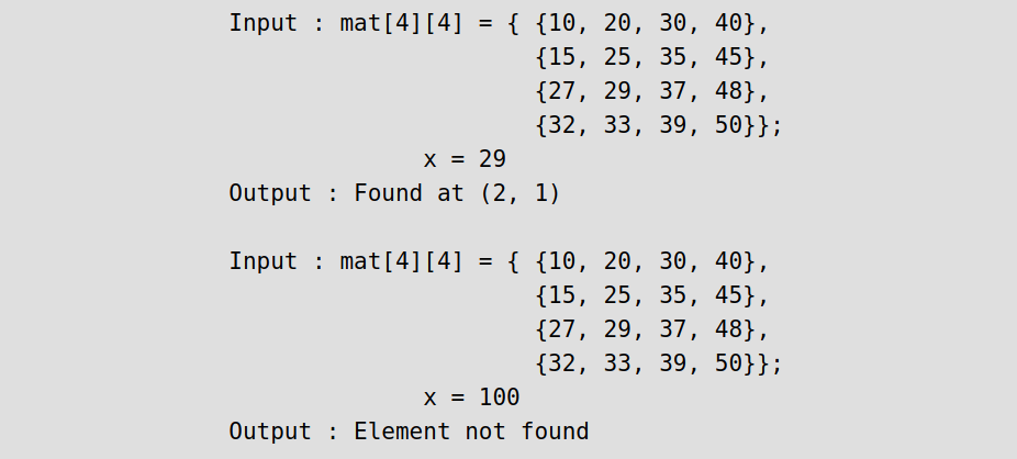 How to search in a row wise and column wise sorted matrix - Quora