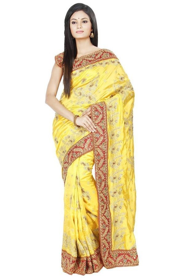 which color blouse will match a yellow saree quora. Black Bedroom Furniture Sets. Home Design Ideas