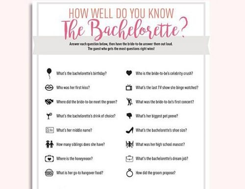 What are some good Newlywed Game questions for a bachelorette party