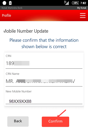 Why I could not be able to change my registered mobile