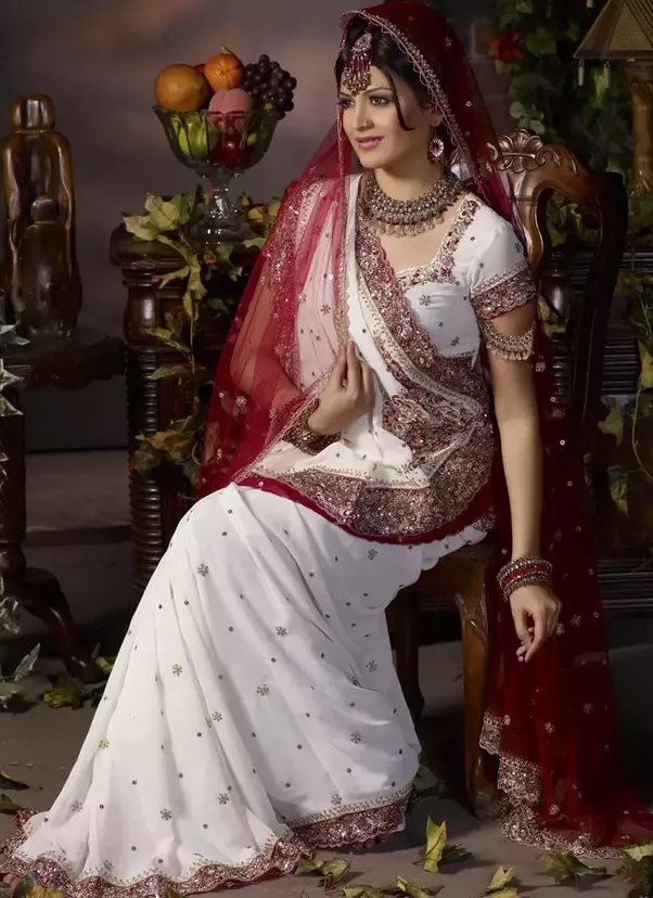 Bride Wearing Gharchola