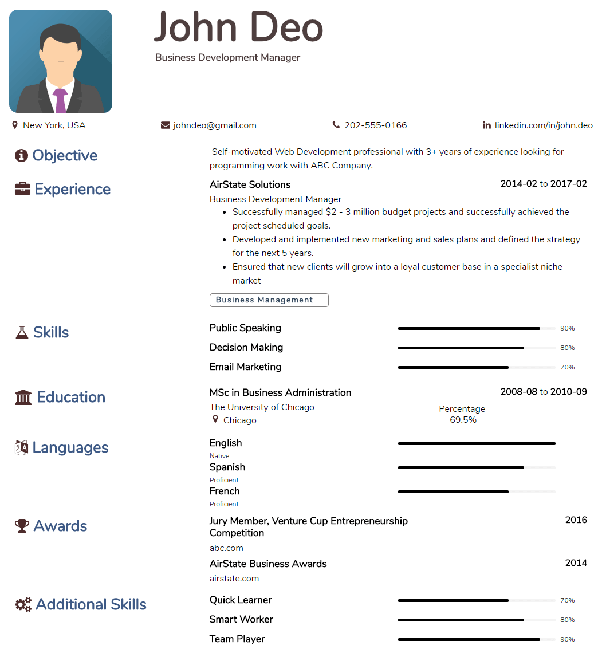 Where can one find some good résumé/CV templates? - Quora