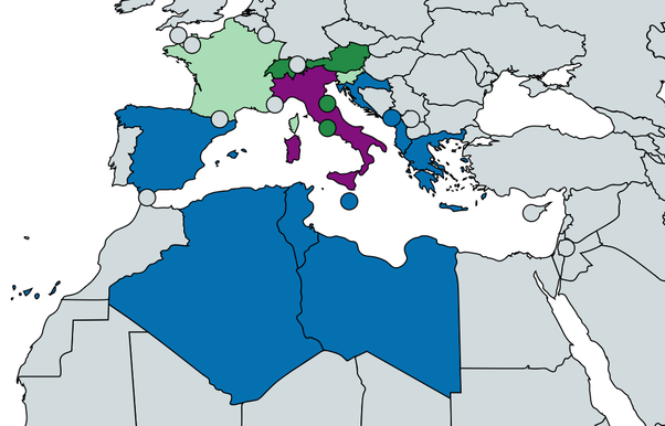 Map Of Italy And Neighbouring Countries.What Countries Share A Border With Italy Quora
