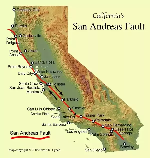 it responsible for numerous large earthquakes primarily the 1906 san francisco earthquake and the 1989 loma prieta earthquake which actually happened