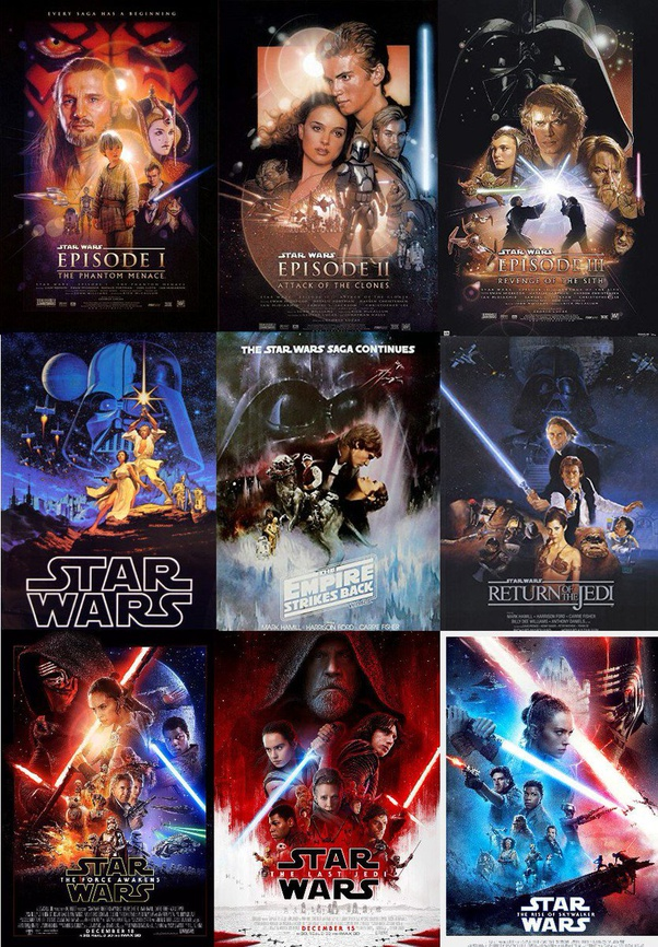 What Is The Correct Order To Watch The Star Wars Movies Quora