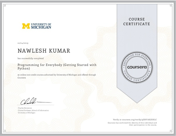 What does a certificate from Coursera look like? - Quora