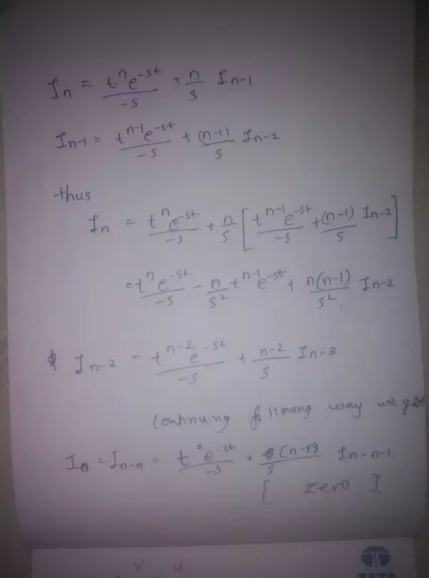 What Is The Integration Of E St T N Dt Quora