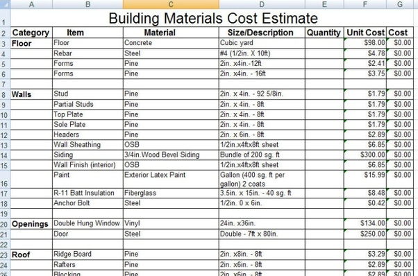 How To Create A Building Material Schedule Quora