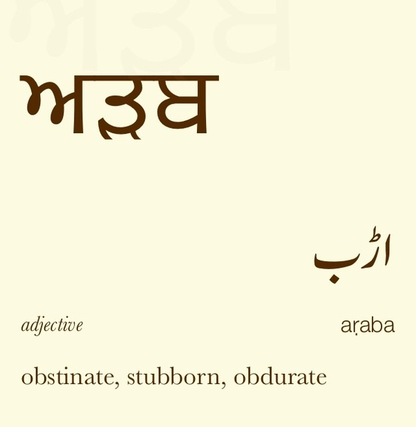 What is the meaning of the Punjabi word 'arb'? Does that mean