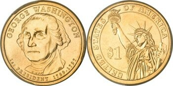 How much is a 1789-1797 George Washington one dollar coin