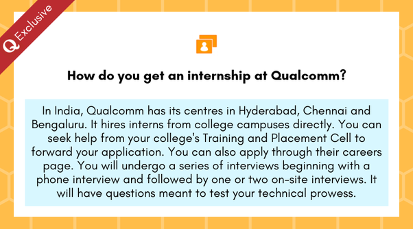 How To Get An Internship At Qualcomm Quora