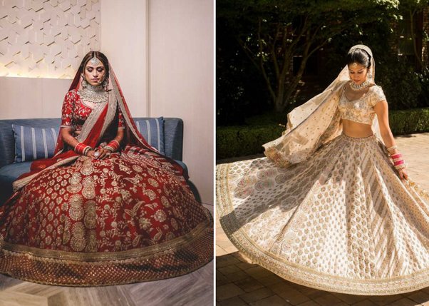 6f9ffdf99e4057 Would you believe it if we told you that now you can get a Sabyasachi  lehenga on rent. Almost every Indian girl dreams about getting married in a  Sabyasachi ...