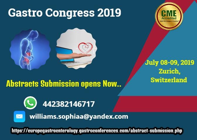 Gastroenterology Conferences | Gastro Congress 2019 | Euro