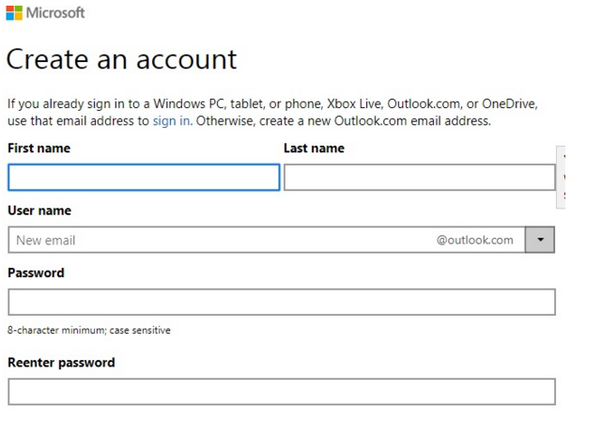 Can I create a new Hotmail account without a phone number