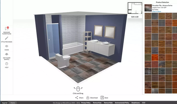 They Allow You To Put In Your Dimensions 2d And Change Wall Bathroom Tiles Simultaneously So Can See What Looks Best Together Prior