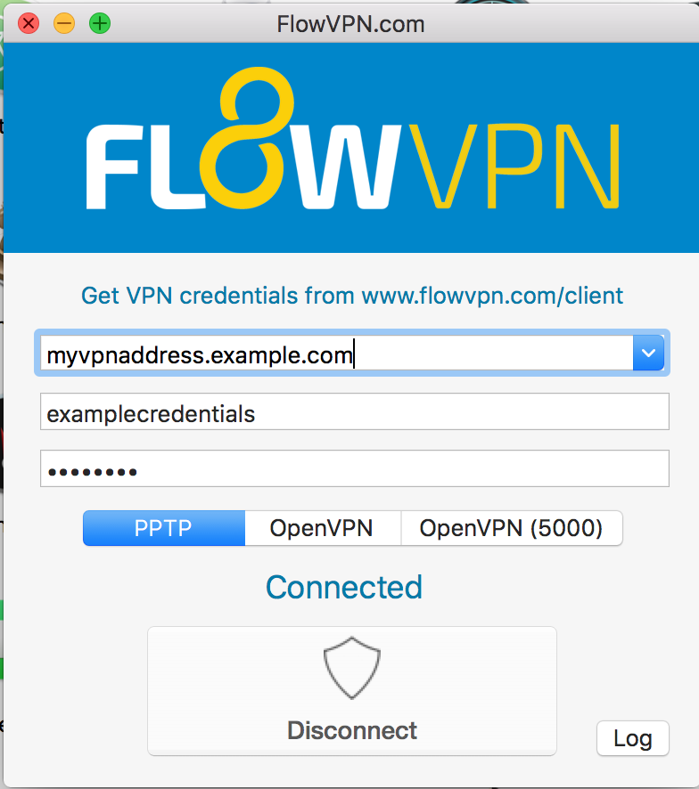 Set up the PPTP VPN connection on Mac OS