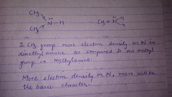 Why is dimethylamine a stronger base than methylamine? - Quora