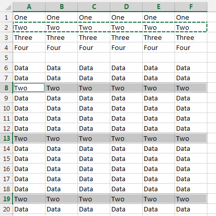 How to copy a range or rows in excel and paste it several