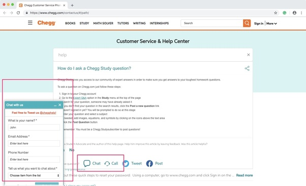 How to contact Chegg - Quora