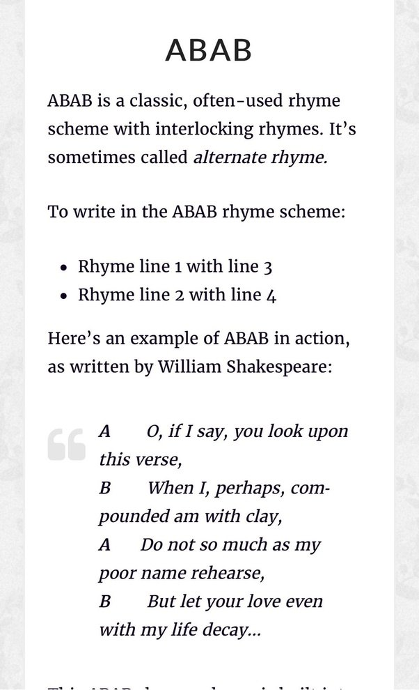 Have You Mastered all 7 of these Basic Rhyme Schemes?