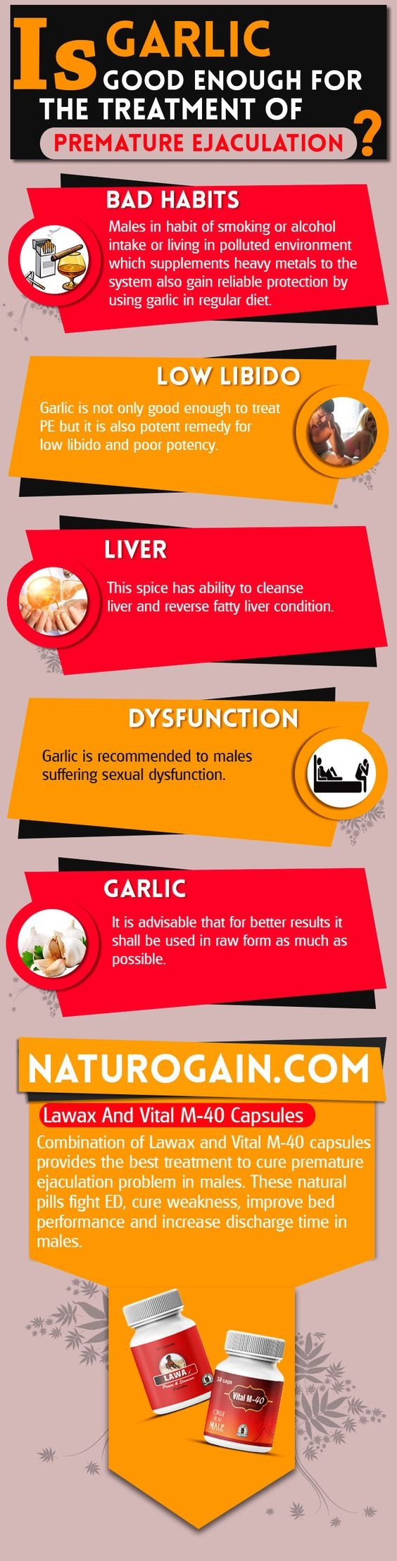 Is garlic good enough for the treatment of premature