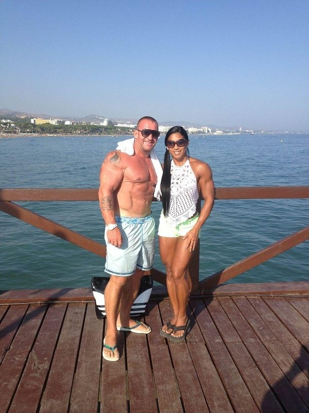 What are some interesting things about dorian yates the 6 time hes in his 50s and enjoys out training 25 year olds in the gym he still looks great heres a pic of him with his wife malvernweather Choice Image