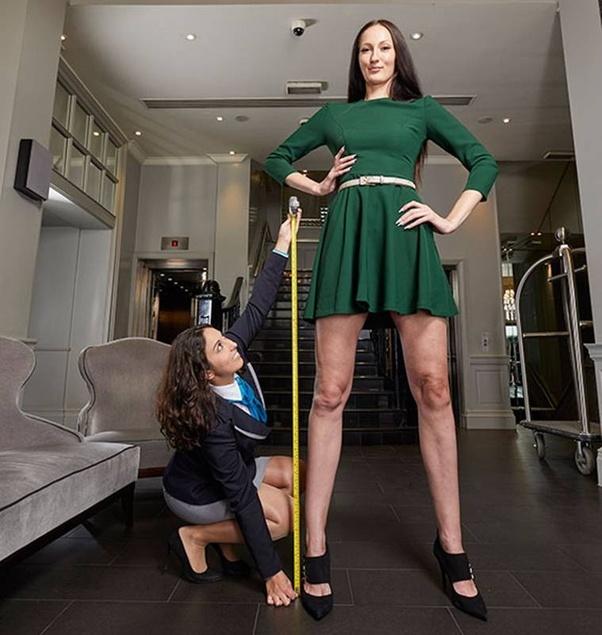 Tall women comparison super Famous Tall